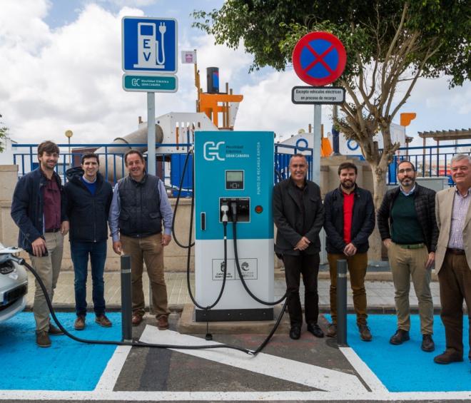 La Red de Recarga de Vehículos Eléctricos de Gran Canaria es un ejemplo a seguir